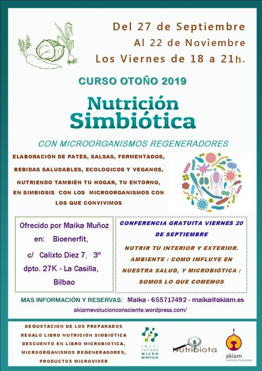 CURSO INTRODUCCIÓN A LA NUTRICIÓN SIMBIÓTICA - BILBAO @ Bilbo | Euskadi | España